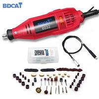Гравер BDCAT 6032 180W бормашина з насадками, гнучким валом і регулюванням обертів