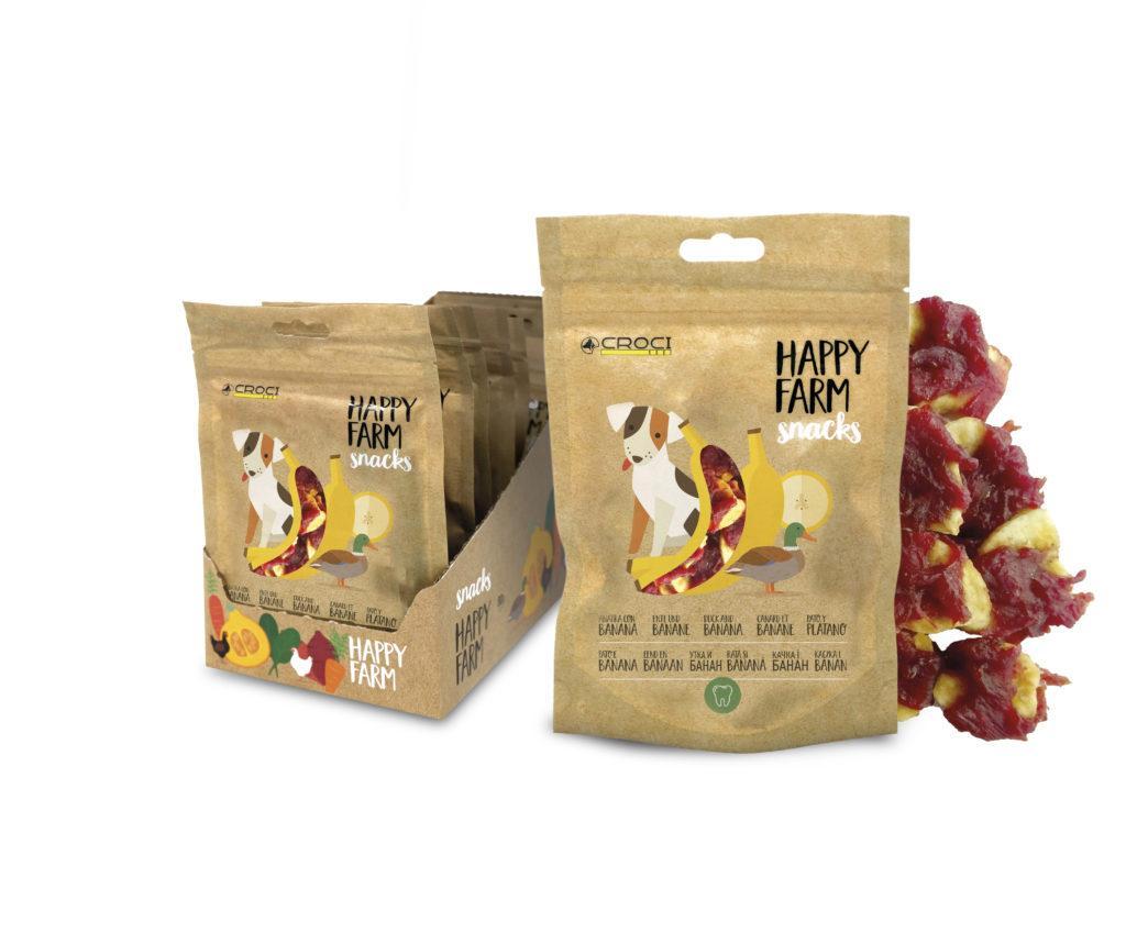Лакомства для собак утка с бананом CROCI HAPPY FARM 80 г