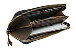 Гаманець шкіряний клатч великий travel SULLIVAN коричневий, фото 3