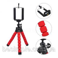 Штатив тринога для телефону Tripod selfie 390 Червоний