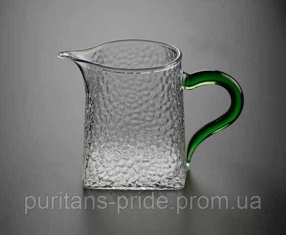 Чахай стеклянная «Зеленая» 300 мл | Посуда для чая