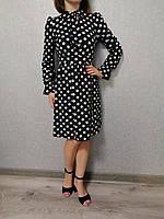 Платье женское черное в белый горох Exclusive Размер S-M, M-L