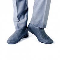 Силиконовые водонепроницаемые бахилы чехлы на обувь размер L 41-45 р обуви СЕРЫЙ, фото 1