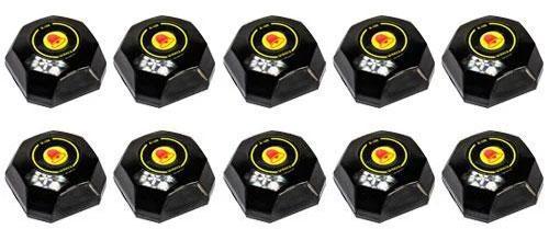 Фото: кнопки виклику офіціанта R-108 Black Bell - 10 штук - комплект системи виклику RECS №85