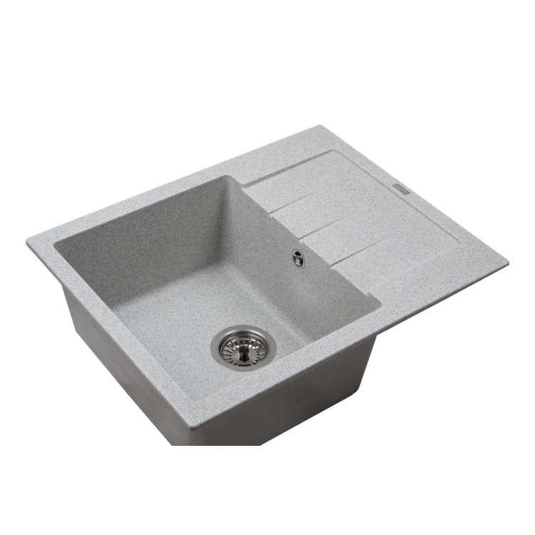 Мойка каменная Ventolux SILVIA (GRAY GRANIT) 620x500x200 Серый