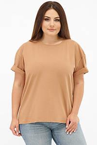 Жіноча однотонна футболка бавовняна (00 fup)