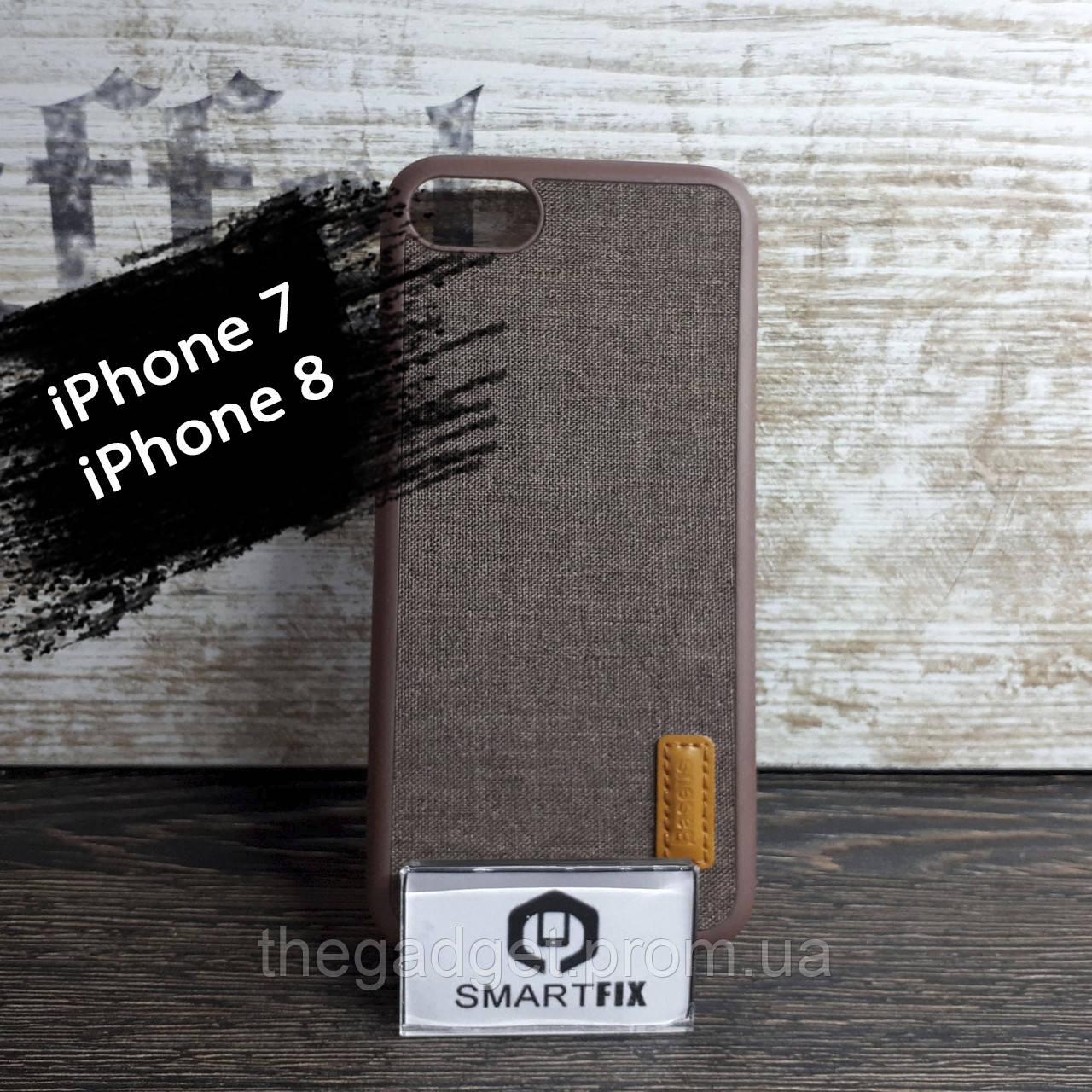 Пластиковый чехол с текстурой для iPhone 7 / iPhone 8 Коричневый