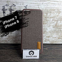 Пластиковый чехол с текстурой для iPhone 7 / iPhone 8 Коричневый, фото 1