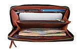 Кошелек  кожаный клатч большой travel SULLIVAN  светло-коричневый, фото 2
