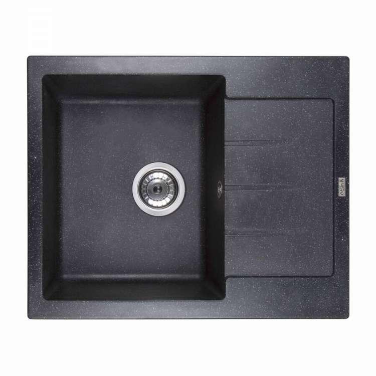 Мойка каменная Ventolux SILVIA (SPACE BLACK) 620x500x200 Черная