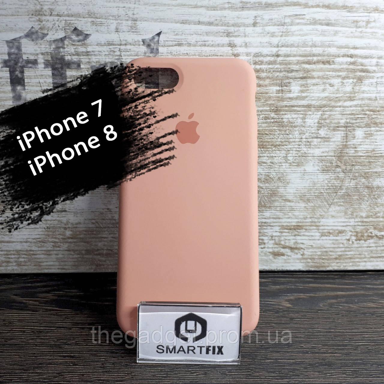 Силиконовый чехол для iPhone 7 / iPhone 8 Soft Бледно-оранжевый