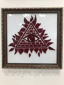 Картина зі скла Фьюзинг «Всевидюче око»