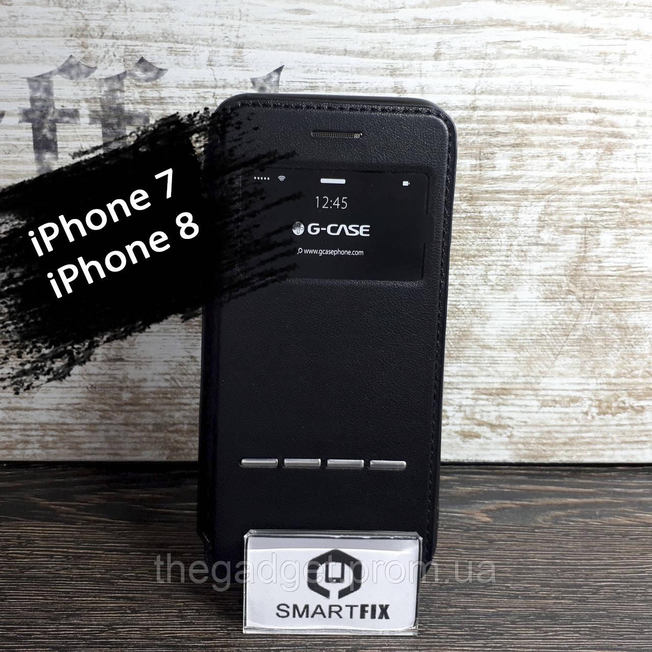 Чехол книжка для iPhone 7 / iPhone 8 G-Case Черный