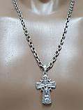 Срібна цепочка з хрестиком, фото 4