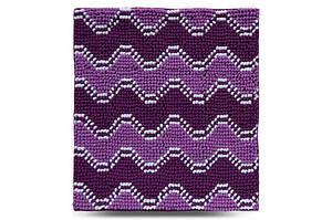 Килимок у ванну кімнату Махрамат Хвиля, фіолетовий, 55х50 см