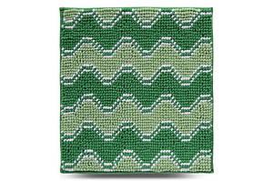 Килимок у ванну кімнату Махрамат Хвиля, зелений, 55х50 см