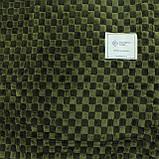 Плед однотонный полуторный в клетку 150x200см микрофибра, фото 2