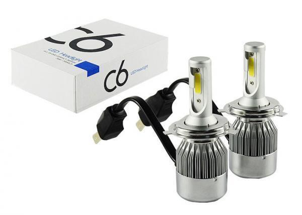 Автомобильные Светодиодные Лед LED лампы HeadLight C6 72 Вт 7600LM 6500К 12V COB Цоколь H4 (в ящике 50шт).