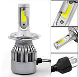 Автомобильные Светодиодные Лед LED лампы HeadLight C6 72 Вт 7600LM 6500К 12V COB Цоколь H4 (в ящике 50шт)., фото 2