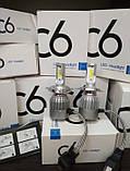 Автомобильные Светодиодные Лед LED лампы HeadLight C6 72 Вт 7600LM 6500К 12V COB Цоколь H4 (в ящике 50шт)., фото 3