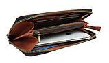 Кошелек  кожаный клатч большой travel SULLIVAN  светло-коричневый, фото 4