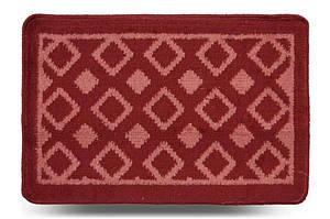 Килимок для туалету «Плитка», червоний, 40x60 см