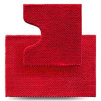 Набор ковриков для ванной комнаты Ананас, красный