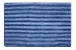 Универсальный коврик для дома Фиберлайн синий 60х90 см