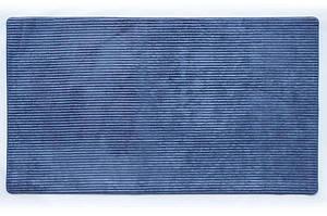 Универсальный коврик для дома Фиберлайн синий 68x120 см