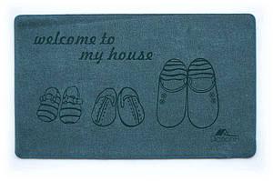 Універсальний килимок для будинку Шерсть My House синій 68х120 см
