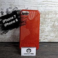 Блестящий силиконовый чехол для iPhone 7 / iPhone 8 Красный, фото 1