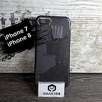 Блестящий силиконовый чехол для iPhone 7 / iPhone 8 Черный, фото 1