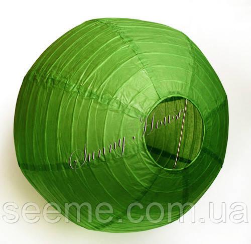 Куля підвісний декоративний «Плісе Класик», діаметр 45 див Колір зелений чай