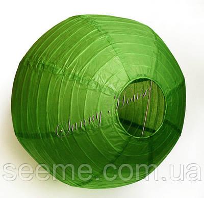 Шар подвесной декоративный «Плиссе Классик», диаметр 45 см. Цвет зеленый чай