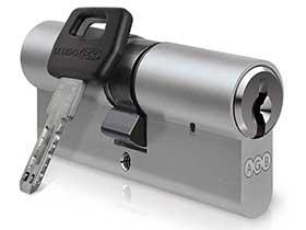 Цилиндр AGB (Италия) Scudo DCK/120мм, ключ-ключ, 40/80 Латунь полированная