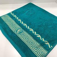 Махровое пляжное полотенце 100*150 см морская волна 430 гр/м2