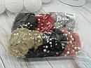 Резинки для волос  Ø8 см мех с бусинами 12 шт/уп., фото 3