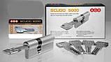 Цилиндр AGB (Италия) Scudo5000/100 мм, ключ-ключ, 40/60, латунь, фото 4
