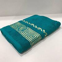 Махровое банное полотенце 70х140 см морская волна 430 гр/м2