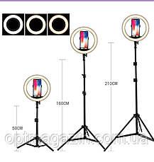 Профессиональная кольцевая Led лампа S31, управление на проводе, питание usb, диаметр 33 см, фото 3
