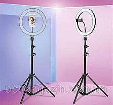 Профессиональная кольцевая Led лампа S31, управление на проводе, питание usb, диаметр 33 см, фото 2