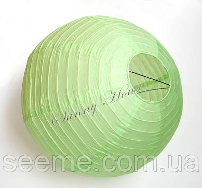 Шар подвесной декоративный «Плиссе Классик», диаметр 45 см. Цвет весенний зеленый