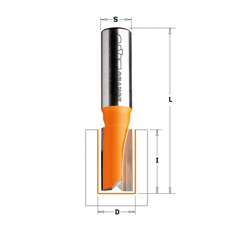 Фреза  пазовая D = 18 мм; В = 20 мм; хвостовик = 8 мм. (СМТ, Италия)