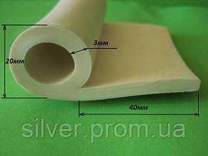 Уплотнитель силиконовый Р-образный 20мм