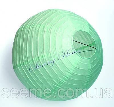 Шар подвесной декоративный «Плиссе Классик», диаметр 45 см. Цвет мятный