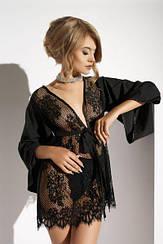 Халат с кружевом  Me-Seduce Barletta Lume di Luna, Black S
