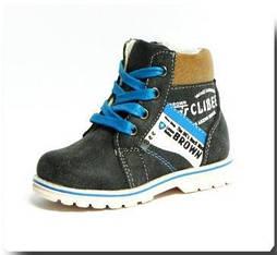 Демисезонные ботинки CLIBEE 568 черный. Размеры 21,22