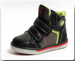 Демисезонные ботинки Clibee 132 черно-салатовый. Размер 21