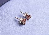 Серьги фирмы Xuping позолота (color ХР1016, 7мм Т0390 желтые), фото 3