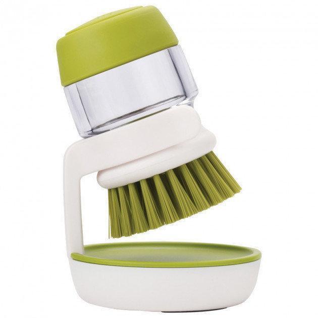 Щётка с дозатором для жидкого мыла Jesopb Soap Brush салатовая